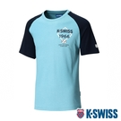 K-SWISS Raglan Tee印花短袖T恤-男-綠/藍