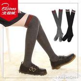 長統襪 過膝襪長筒襪子女韓國學院風日繫堆堆襪純棉高筒襪防滑 Ifashion