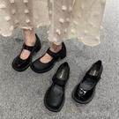 春款復古粗高跟大頭鞋女網紅同款學院風小皮鞋娃娃單鞋 洛小仙女鞋
