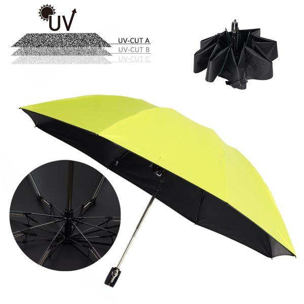 樂嫚妮 雙龍TDN 反向傘 自動開收黑膠傘 降溫抗UV 晴雨兩用傘 玻璃纖維