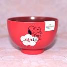 Snoopy 史努比 和風湯碗 茶碗 紅色梅花 日本製正版