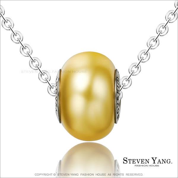 項鍊STEVEN YANG西德鋼飾「純真少女」黃色 採用施華洛世奇水晶元素 附鋼鍊
