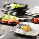 8寸創意手繪日式陶瓷盤子家用菜盤西餐盤牛排盤早餐盤