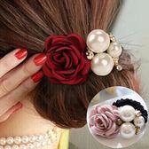 【TT】髪飾韓國髪圈珍珠髪繩橡皮筋頭飾花朵頭繩紮頭髪髪卡韓版髪夾頭花