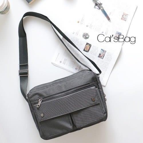 斜背包-中性設計五層斜背包-Catsbag-186150405
