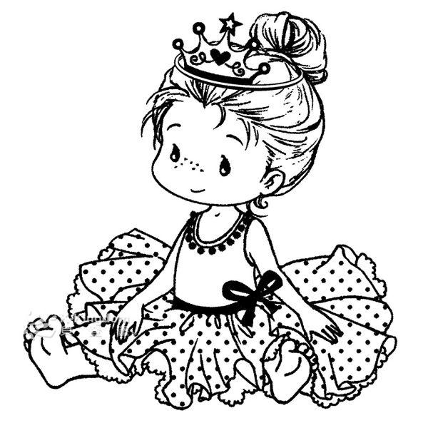 【貝登堡】手作 卡片 楓木印章 木頭印章 木頭章 穿芭蕾衣的小女孩 GT-5304