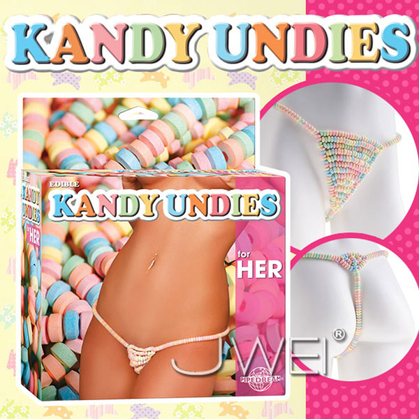969情趣~美國原裝進口PIPEDREAM.EDIBLE KANDY UNDIES糖果丁字褲-for HER(女用)
