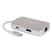 【美國代購】MINIX NEO C, USB-C 多功能集線器 with HDMI / RJ45網路 - Silver (適用 MacBook)