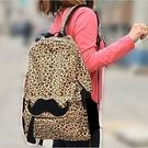 【發現。好貨】韓版豹紋翹鬍子後背包 帆布...