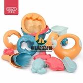 兒童玩具 夏日寶寶沙灘戲水玩具挖沙軟膠沙灘玩具14件套【創世紀生活館】