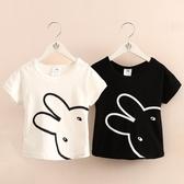 寶寶小兔短袖T恤2020夏裝新款女童童裝兒童圓領上衣tx-9578 童趣屋