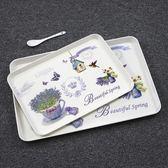 週年慶優惠-托盤家用長方形歐式水杯托盤茶盤創意水果盤水餃蛋糕盤餐盤加厚