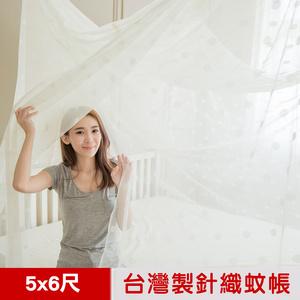 【凱蕾絲帝】台灣製造-大空間專用雙人5尺針織蚊帳-開單門-米