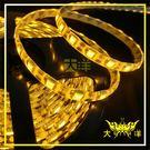 ◤大洋國際電子◢ 5050 18燈白底扁條燈 防水型 30cm (共陽) 24V 黃光 裝飾 氣氛燈 牌照燈 1329-Y-30CM