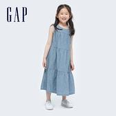 Gap女童 文藝純棉寬鬆洋裝 686936-藍色