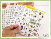 手帳貼紙│狗狗的生活裝飾日記貼紙/4張