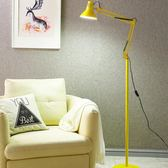 LED金屬落地式客廳沙發書房鋼琴臺燈led看書護眼落地燈黃光白熾燈