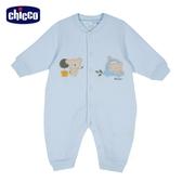chicco- 熊英文字夾棉妙妙裝-藍