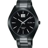 ALBA 雅柏 PRESTIGE 日系純粹時尚手錶-鍍黑/42mm VJ76-X033SD(AQ5147X1)