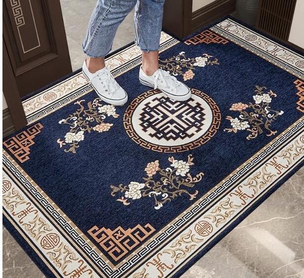 新中式進門地墊家用門口腳墊入戶門墊子客廳門墊臥室地毯可定制 3C優購
