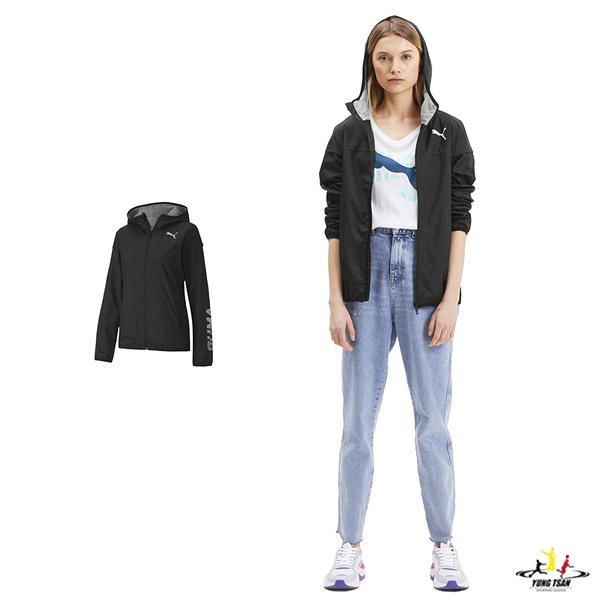 Puma 女款 黑色 外套 防風外套 連帽外套 運動 休閒 風衣外套 58220701