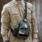 迷彩胸包男潮牌小包單肩包 摩旅戶外戰術斜挎手機包 男包背包背包 蘿莉新品