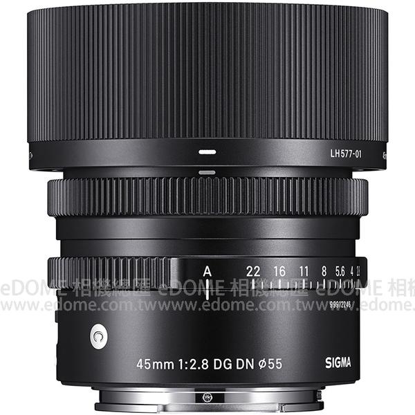 SIGMA 45mm F2.8 DG DN Contemporary for L 接環 (24期0利率 恆伸公司三年保固) 全片幅微單眼鏡頭 L-MOUNT