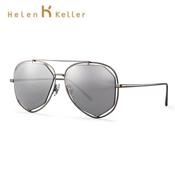 Helen Keller 時尚美學偏光墨鏡 飛行員鏡框 抗紫外線 H8607