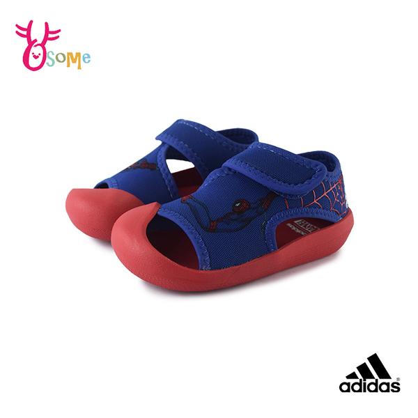 adidas涼鞋男童涼鞋蜘蛛人 MARVEL涼鞋 護趾涼鞋 防水快乾涼鞋男寶寶涼鞋 S9344#藍色◆OSOME奧森鞋業