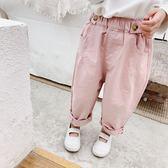 韓系寬版百搭休閒哈倫褲 童裝 褲子 長褲
