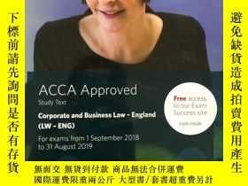 二手書博民逛書店ACCA罕見Approved study text Corporate and Business Law-Engl