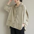 連帽針織外套 百搭單排長袖外套 開衫毛衣外套/2色-夢想家-0118