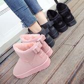 韓風雪靴 學生冬季短靴平底防滑雪