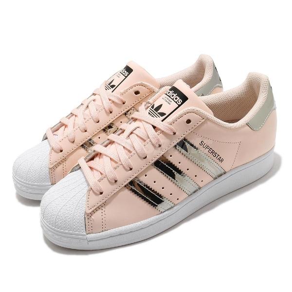adidas 休閒鞋 Superstar W 粉紅 銀 鏡面 女鞋 基本款 貝殼頭 愛迪達 【ACS】 FW5014