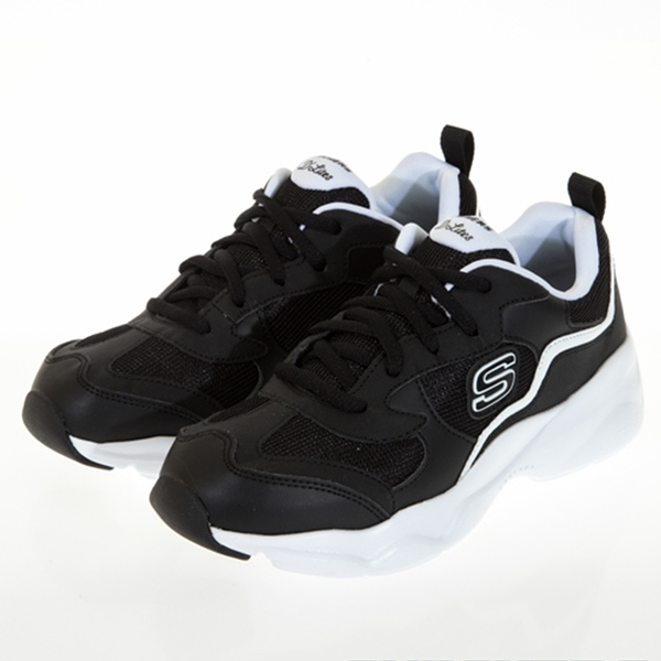 SKECHERS D'LITES AIRY 女款黑白休閒鞋-NO.66666231BKW