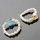 【喨喨飾品】珍珠戒指。橘色S438
