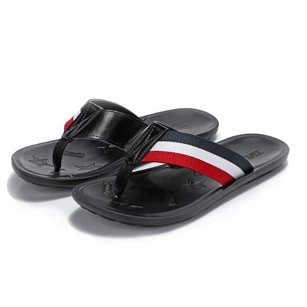 【Jingle】潮流時尚情侶款人字拖夾腳涼拖鞋(黑色白色2色全尺碼)
