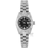 【台南 時代鐘錶 ROSDENTON】勞斯丹頓 典藏雅致 晶鑽機械錶 97628LP-4D 黑/銀 25mm