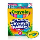 美國Crayola繪兒樂 可水洗粗錐頭彩色筆繽紛色8色 麗翔親子館