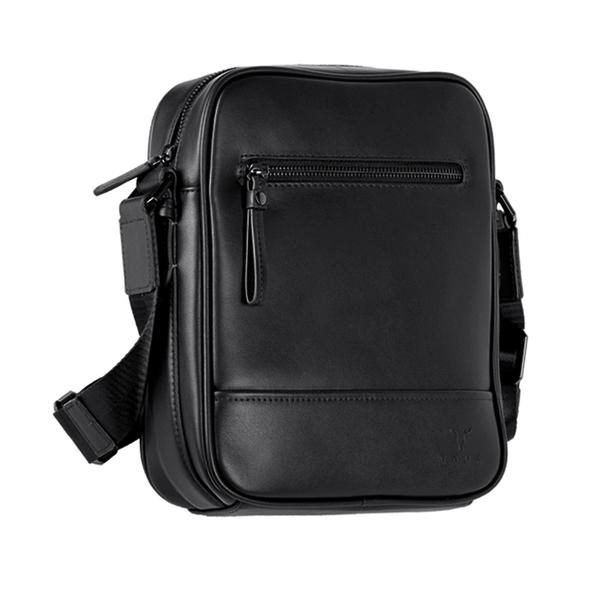 【橘子包包館】VOVA 公爵系列職人直式斜背包 真皮側背包 VA120S01BK 黑色