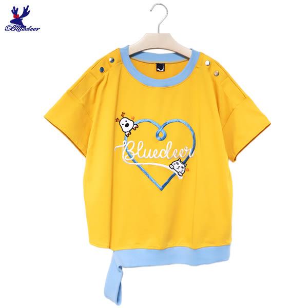 【下殺↘5折】American Bluedeer - 愛心鹿貓T 春夏新款