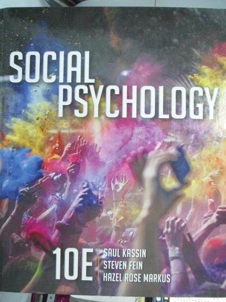 【書寶二手書T5/餐飲_YJA】Social Psychology_Kassin, Saul/ Fein, Steven