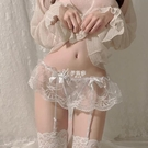 性感日系甜蜜蕾絲內褲一體式吊襪帶套裝情趣高筒長筒吊帶絲襪透視情趣絲襪