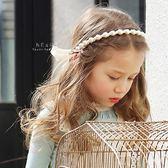 氣質珍珠蝴蝶結綁帶髮箍 兒童髮飾 髮帶