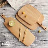 YAHOO618◮實木托盤長方形披薩木盤托盤蛋糕牛排木板 韓趣優品☌