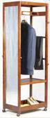 【南洋風休閒傢俱】臥室系列-歐米茄衣掛鏡  穿衣鏡 全身鏡 衣帽架附鏡 活動實木立鏡 759-6/GP-011