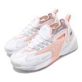 Nike 休閒鞋 Wmns Zoom 2K 白 橘 粉橘 女鞋 運動鞋 復古慢跑鞋 【ACS】 AO0354-108