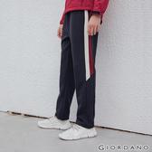 【GIORDANO】 男裝G-MOTION線條鬆緊腰抽繩運動長褲-06 標誌海軍藍