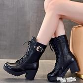 冬季羊毛雪地靴女防滑2021新款加絨加厚高跟馬丁靴厚底短靴棉鞋女 喜迎新春