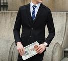 找到自己品牌 韓國男 三件式西裝修身外套 成套西裝外套 西裝外套 外套+背心+褲子